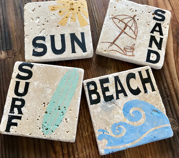 Beach Drink Coasters
