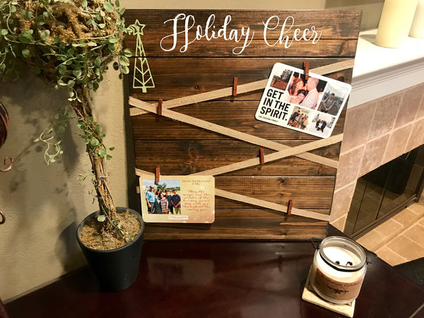 Holiday Cheer Card Display Board
