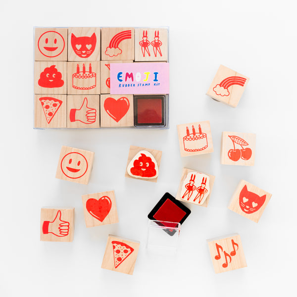 Emoji Rubber Stamp Set