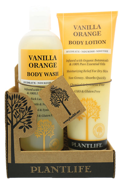 Vanilla Orange Body Wash & Lotion Set