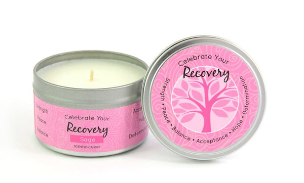 Recovery Breast Cancer Milestone Candle