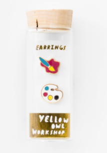 Paint brush & Palette Earrings