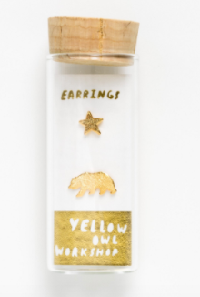 California Bear & Star Earrings