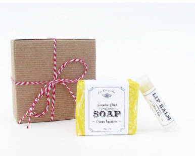 Handmade Soap & Lip Balm Set