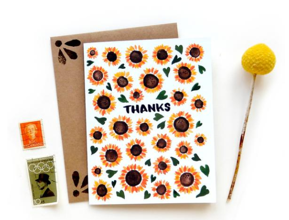 Sunflowers Thank You Cards (6 Pack)