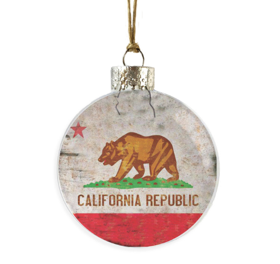 Vintage California Ornament
