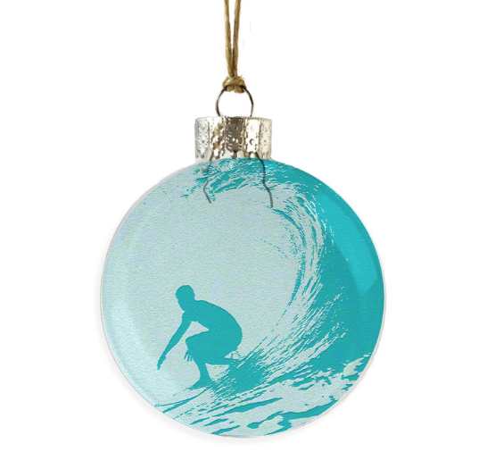 Surfer In Wave Ornament