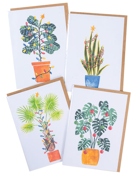 Cactus Holiday Cards - 4 Pack