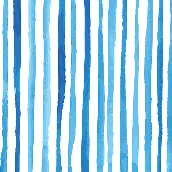 Blue Stripe Gift Wrap