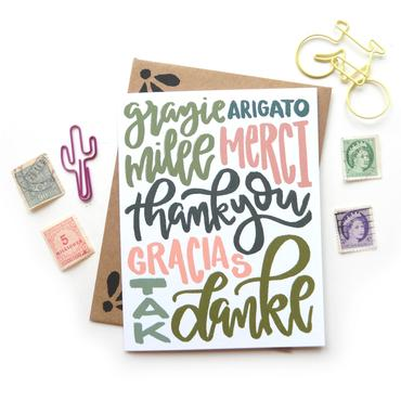Foreign Language Thank You Cards (6 Pack)