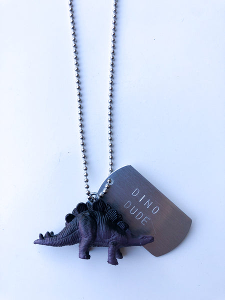 Dino Dude Kids Necklace
