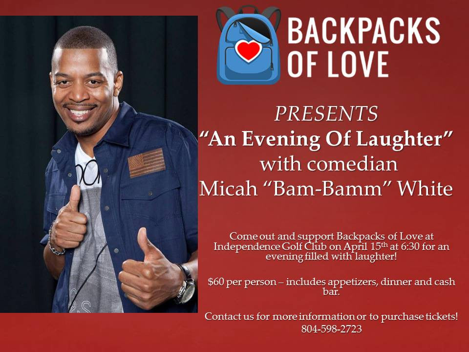 First Annual Backpacks of Love - Comedy Night Success!
