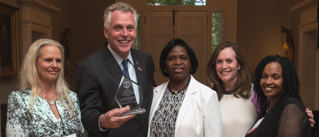 Backpacks of Love Volunteers receive high honors for Governor McAuliffe!