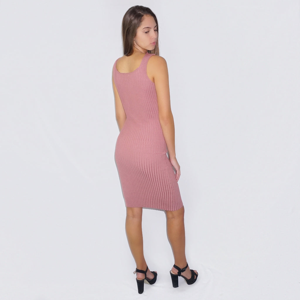 Little Ribbed Midi Dress