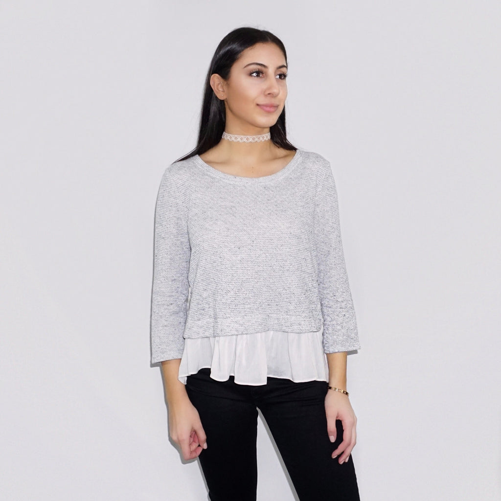 Lola Ruffle Sweater