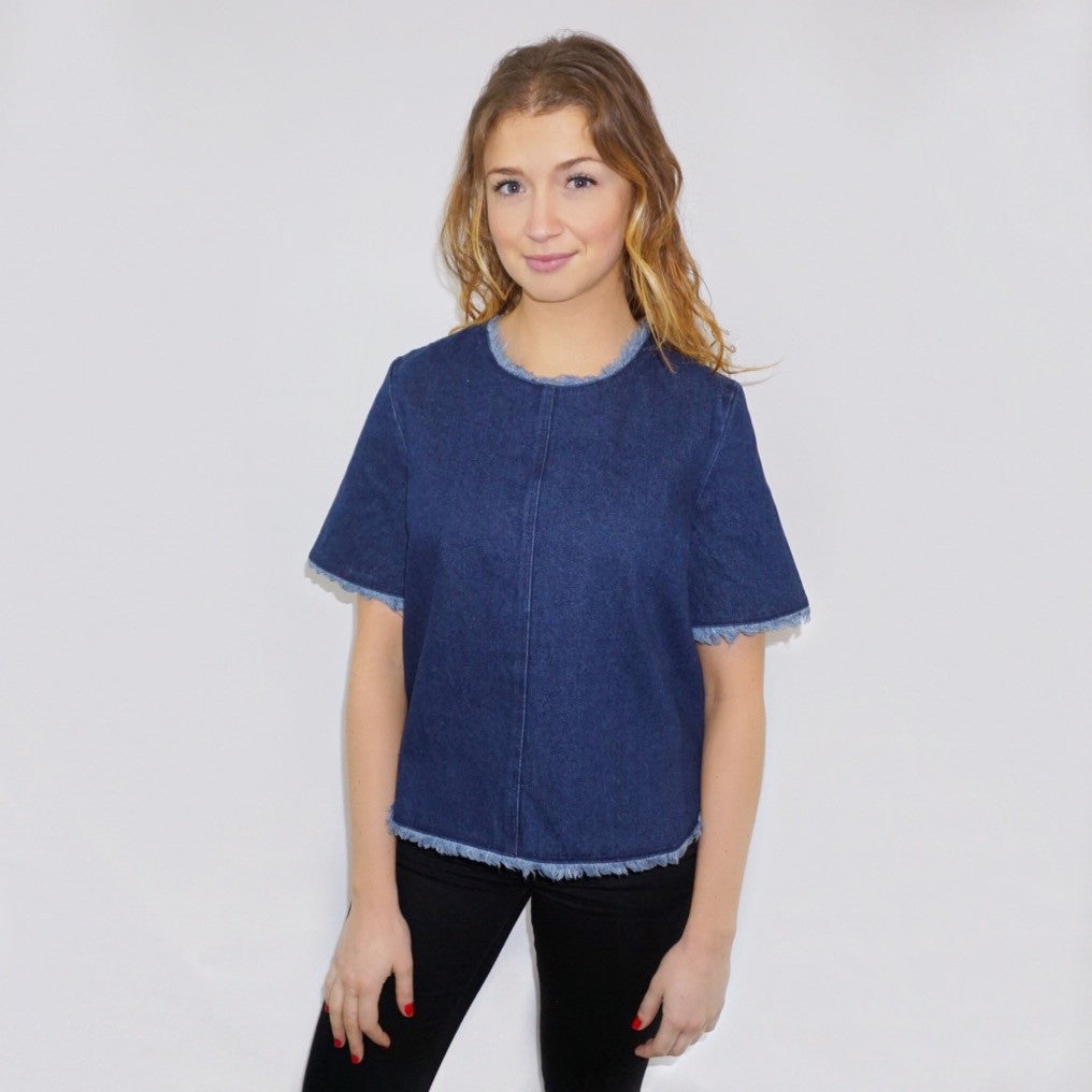 L.B. Denim Top