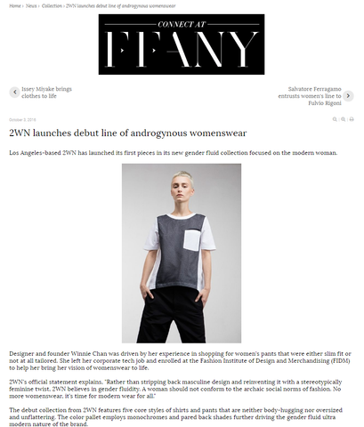 2WN Press Coverage by Fashion Network by Cassidy Mantor  (2WNwear.com, #2WNSTyle)