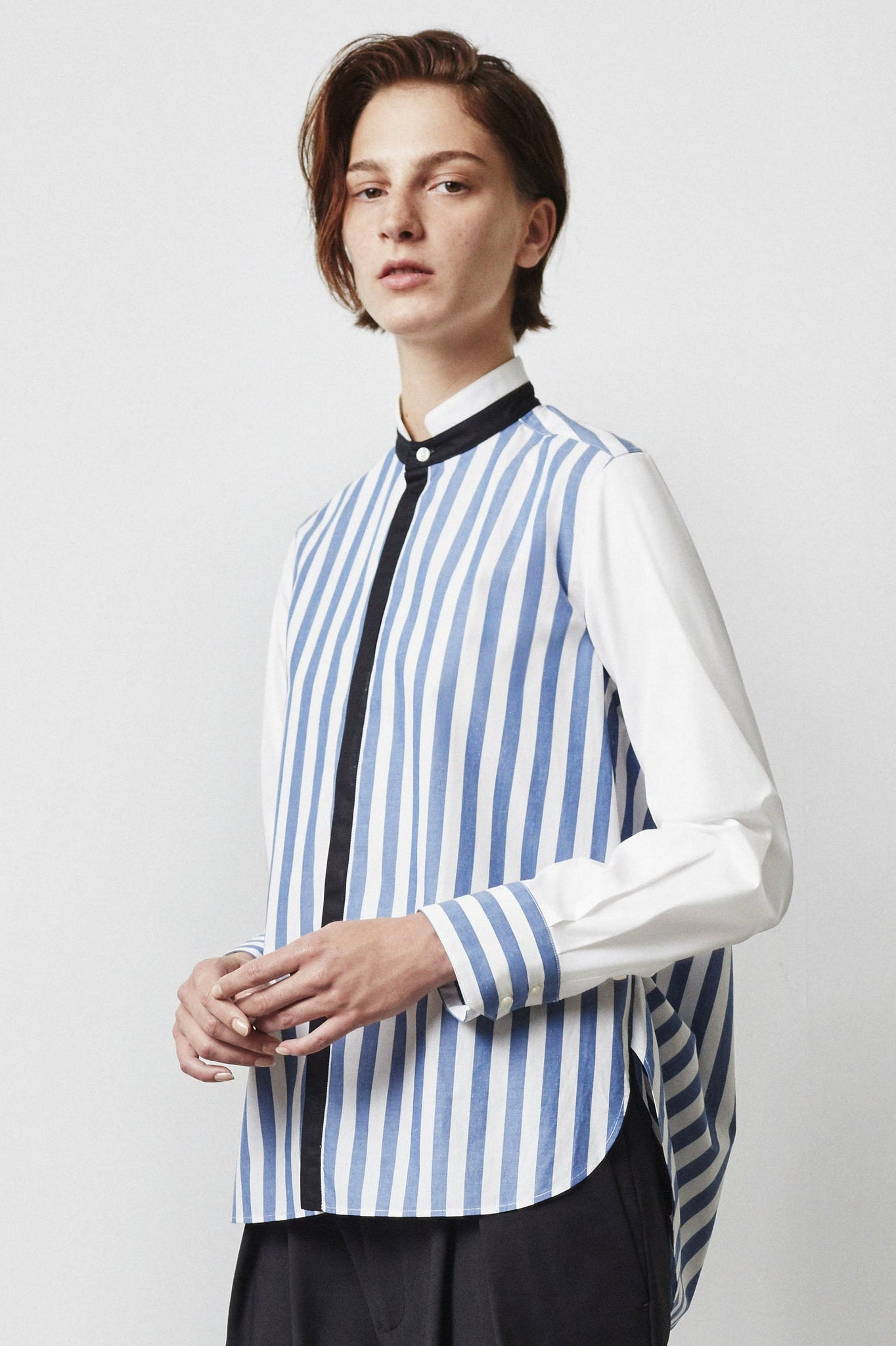 Viktor Contrasted Stripe Shirt