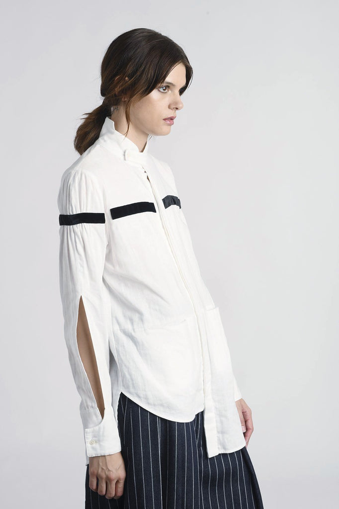 Ema Long Slit-Sleeve Shirt