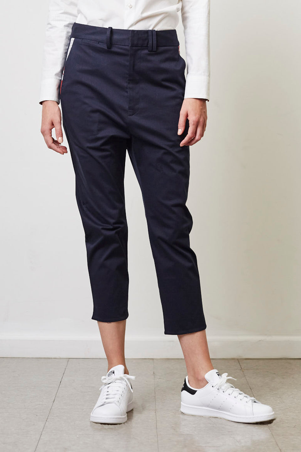 Anders Slouchy Ankle Pant With Pocket Contrast
