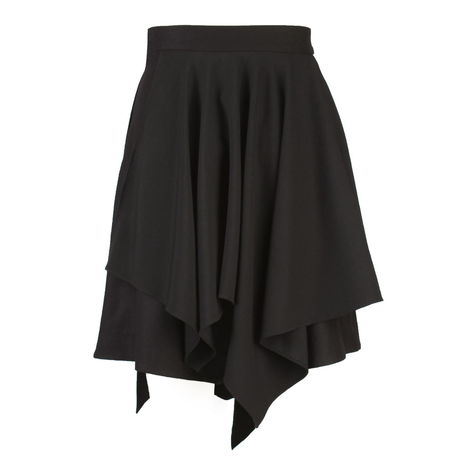 Enid Two-Tier Draped Skirt