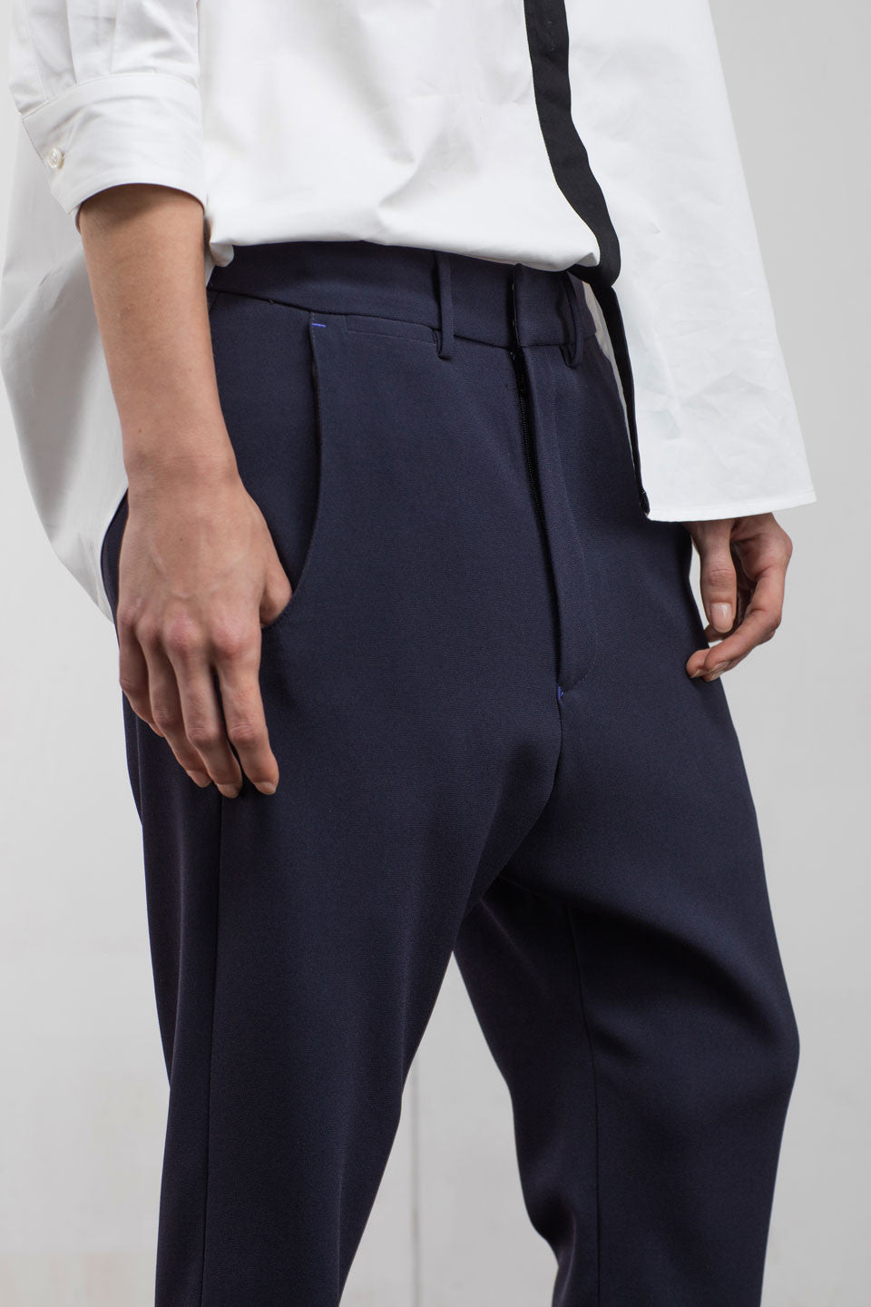 Anders Slouchy Pant Navy