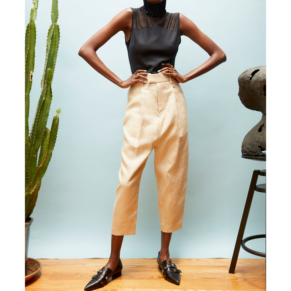 Anders Drop-Crotch Single Pleated Pant