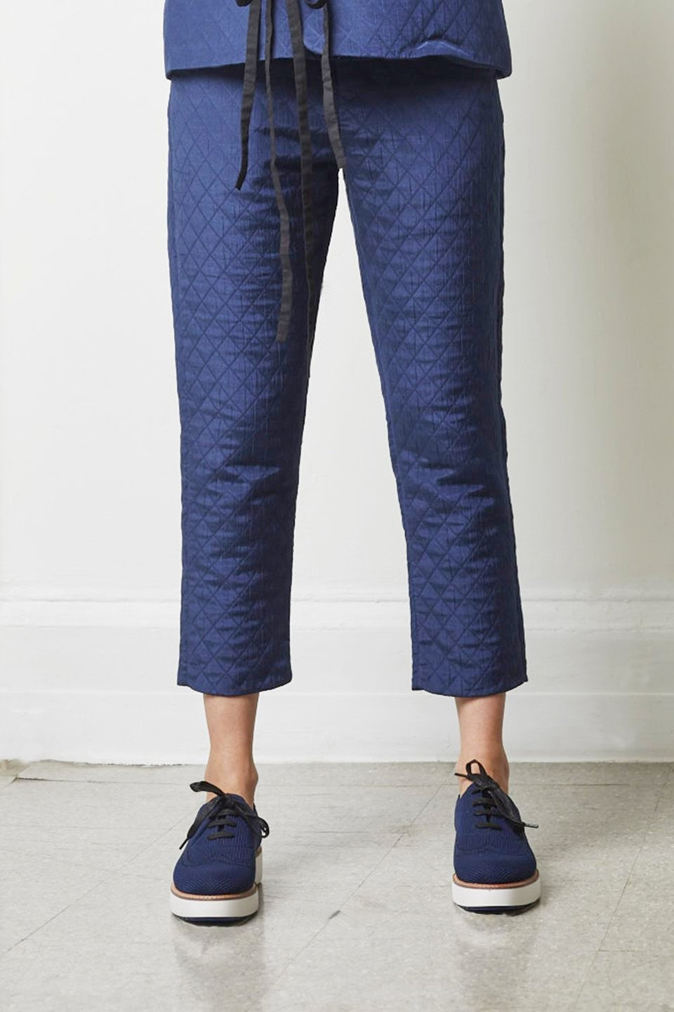 Tomi 5-Pocket Quilted Carrot Pant