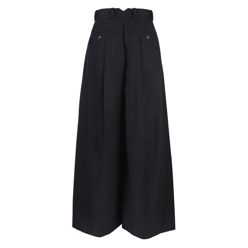 Yuki Front Pleated Wide-Leg Pants