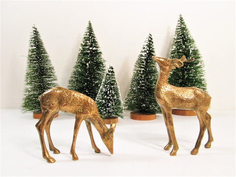 Vintage Brass Deer, Reindeer Holiday Decor