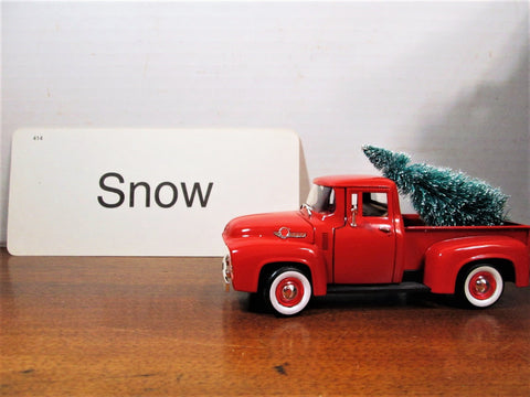 Vintage Flashcard Snow