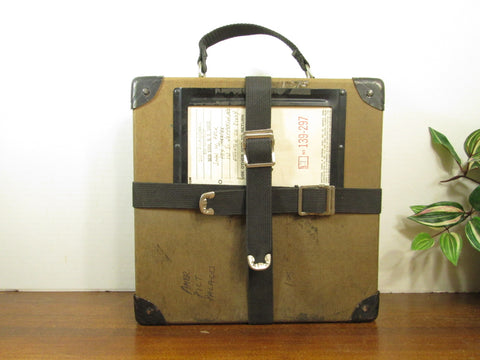 Vintage Film Reel Shipping Box, Movie Film Case
