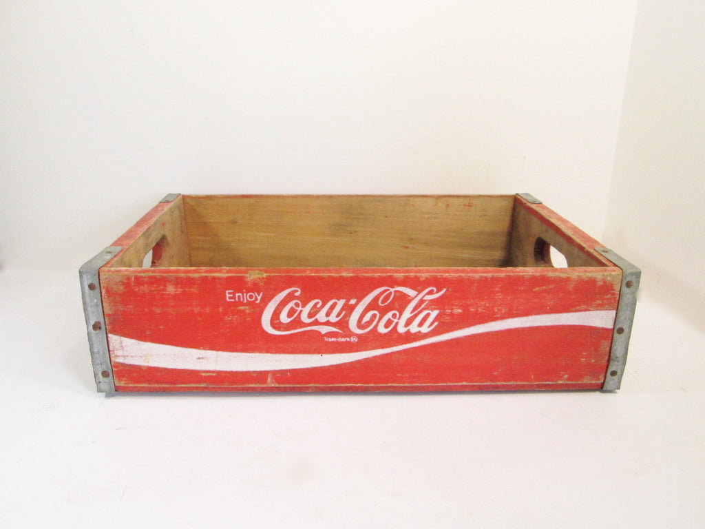 Wooden Crate Red Coca Cola Crate Chattanooga - GirlPickers