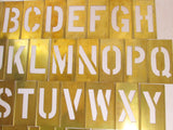 Industrial Letters, Brass Stencil Full Set 4 Inch Letters, Monogram Letter - GirlPickers