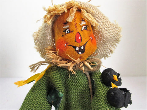 Annalee Doll Scarecrow, Fall Decor, Halloween Decorations - GirlPickers
