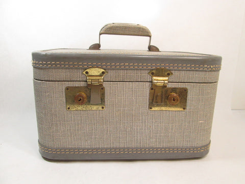 Tweed Train Case, Vintage Luggage - GirlPickers