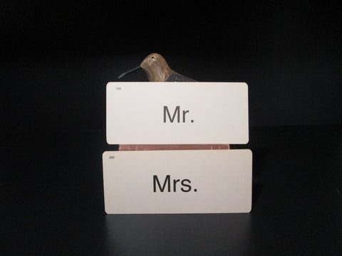 Vintage Flash Card Mr. and Mrs., Wedding Decor - GirlPickers