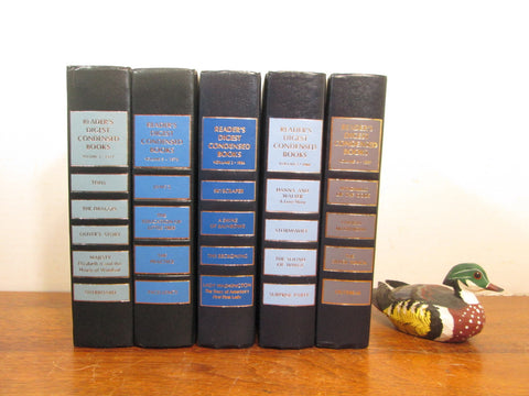 Vintage Blue Book Stack, Blue Books, Book Shelf Decor - GirlPickers