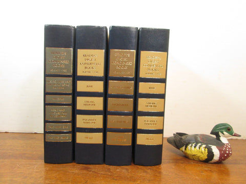 Vintage Book Stack in Neutral Earth Tones and Navy - GirlPickers