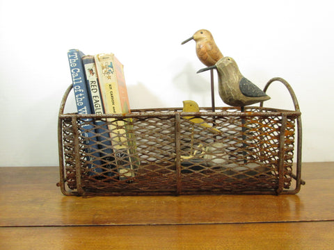 Industrial Metal Basket, Wire Mesh Basket - GirlPickers
