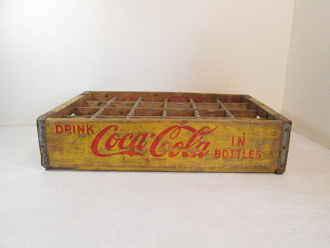 Vintage Yellow Coca Cola Crate 1967 - GirlPickers