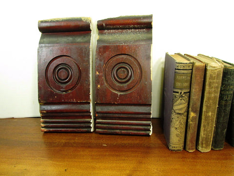 Vintage Bullseye Plinth Blocks, Architectural Salvage Rosette Molding - GirlPickers