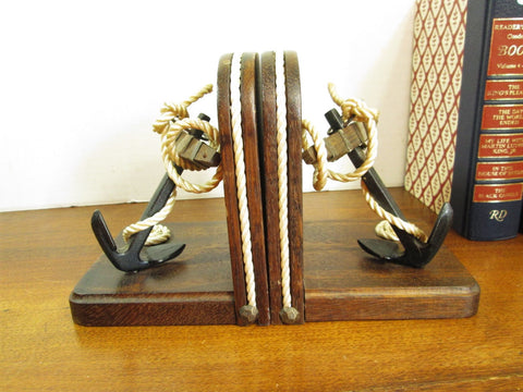 Vintage  Boat Anchor Bookends, Nautical Theme Decor