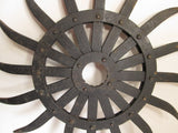 Antique Rotary Hoe Wheel, Rotary Blade, Barn Find Salvaged - GirlPickers