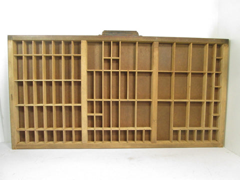 Vintage Printers Tray, Shadow Box Display Case, Letterpress Drawer - GirlPickers
