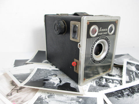 Ansco Shur Shot Camera Vintage Box Camera 1940's Art Deco - GirlPickers
