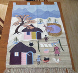 Vintage Mohair Tapestry Made in Lesotho Africa - GirlPickers