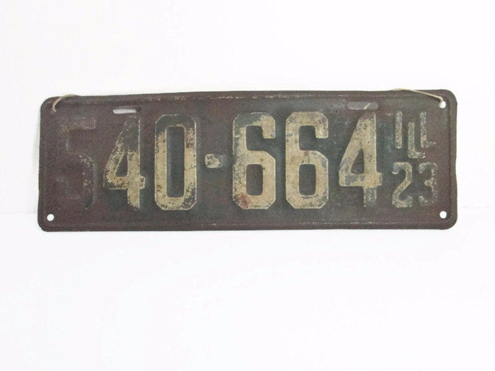 1923 Illinois License Plate 540 664 Vintage Car Plate - GirlPickers