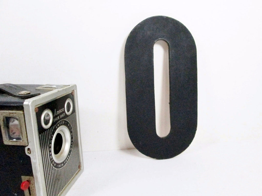 Black Letter O, 7 Inch, Vintage Signage, Salvaged Sign Letter, Monogram O, Other Letters Available - GirlPickers