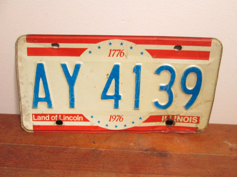 1976 Illinois License Plate Centennial AY 1439 - GirlPickers